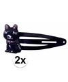 Zwarte haarspeldjes met kat poes