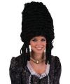 Zwarte hertogin pruik