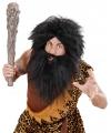 Zwarte holbewoner baard met snor