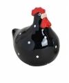 Zwarte kippen deco beeldje 8 cm