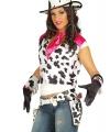 Zwarte koeienprint cowboy holsters met riem