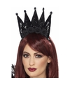 Zwarte kroon haarband