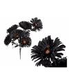 Zwarte kunstbloemen boeket