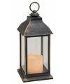 Zwarte kunststof lantaarn 31 cm