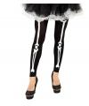 Zwarte legging skelet met botten