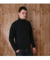 Zwarte micro polar fleece trui voor heren