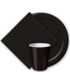Zwarte papieren bekertjes 8 stuks