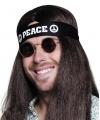 Zwarte peace hoofdband volwassenen
