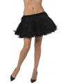 Zwarte petticoat met satijnen band