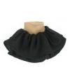 Zwarte pieten kraag zwart