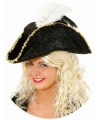 Zwarte piraten driesteek voor dames
