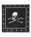 Zwarte piraten servetten met doodshoofd