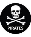 Zwarte piraten sticker 14 8 cm