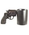 Zwarte pistool mok 12 x 21 5 cm