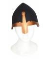 Zwarte ridder helm plastic