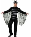 Zwarte vlieg kostuum met vleugels