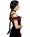 Zwarte western damespruik