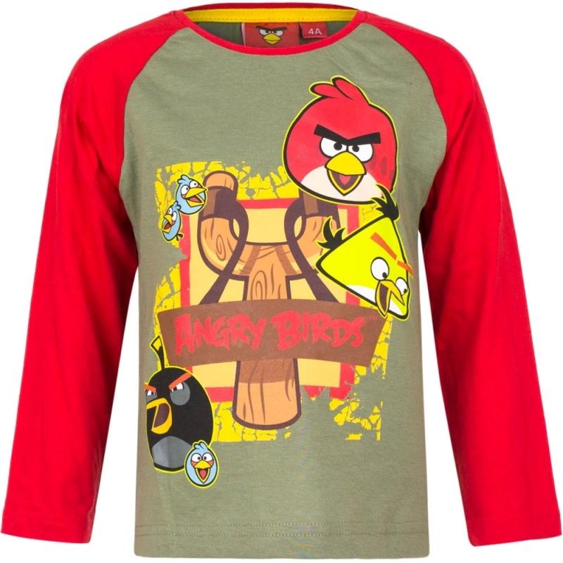 Angry Birds t shirt groen/rood voor jongens
