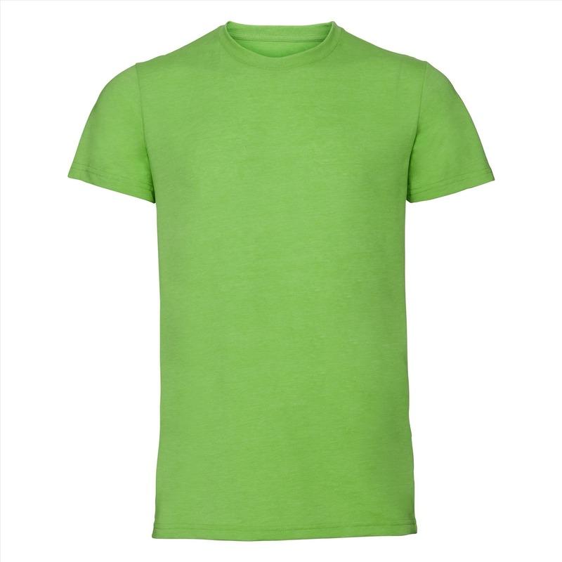 Basic ronde hals t shirt vintage washed lime voor heren
