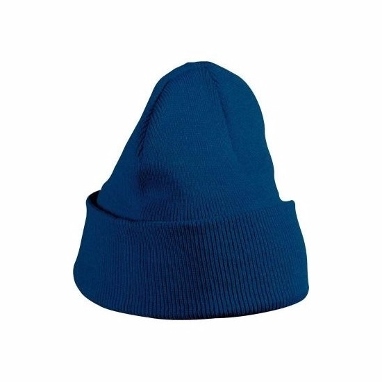 Basic winter muts navy blauw voor meisjes