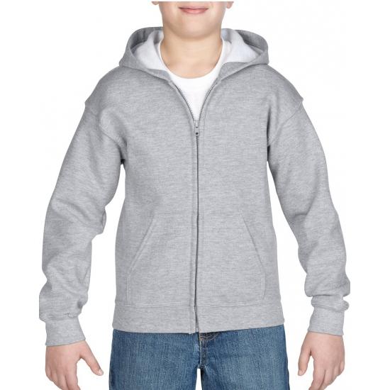 Grijs capuchon vest voor jongens