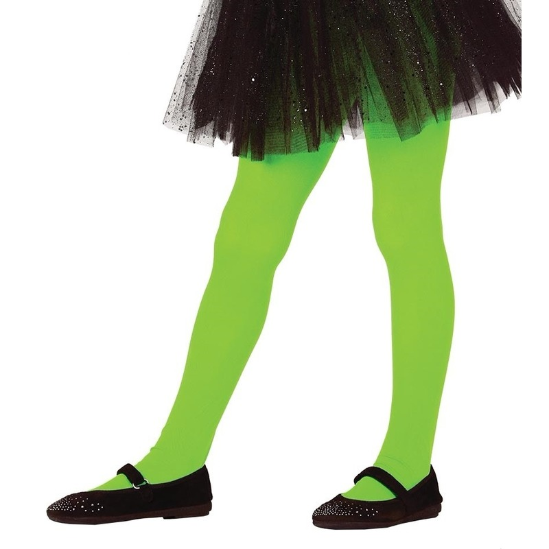 Groene panty 15 denier voor meisjes