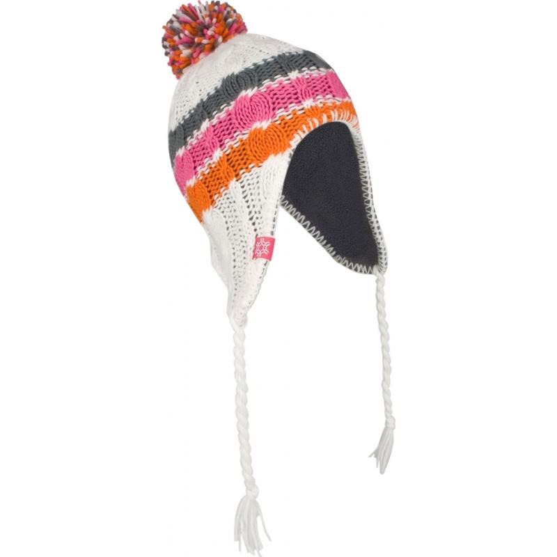 Inca wintermuts wit/roze/oranje