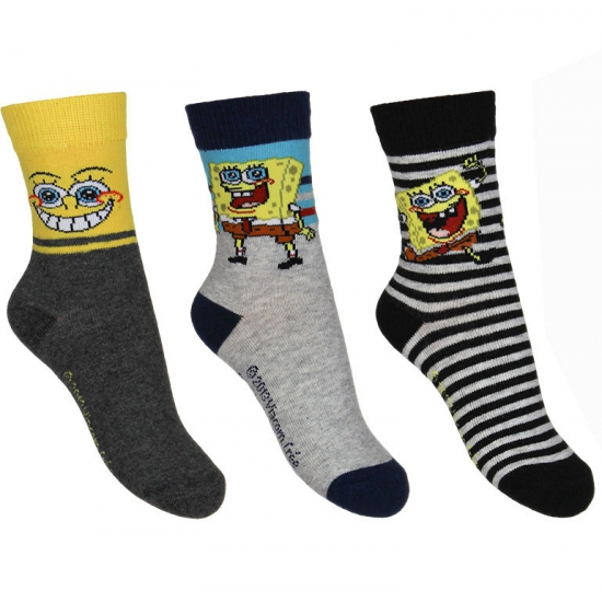 Kindersokken Spongebob 3 pak nr 1