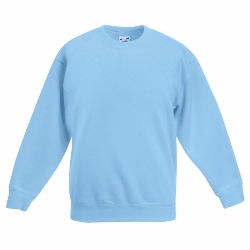 Lichtblauwe katoenmix sweater voor meisjes