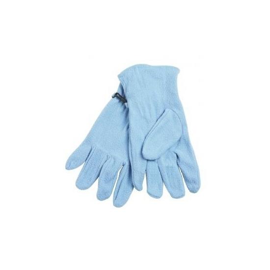 Lichte blauwe fleece handschoenen voor volwassenen