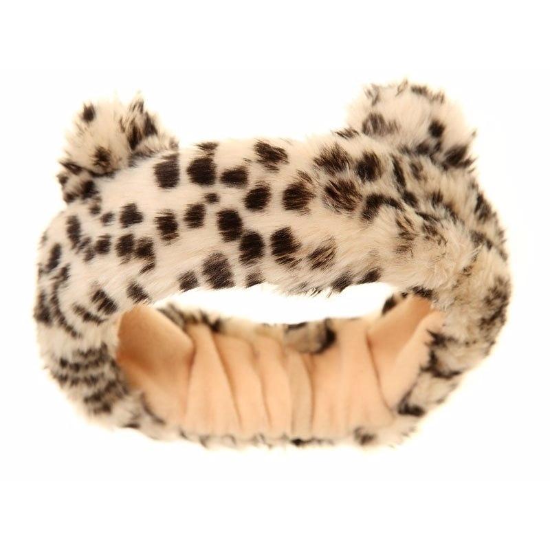 Luipaard hoofdband met oren voor meisjes