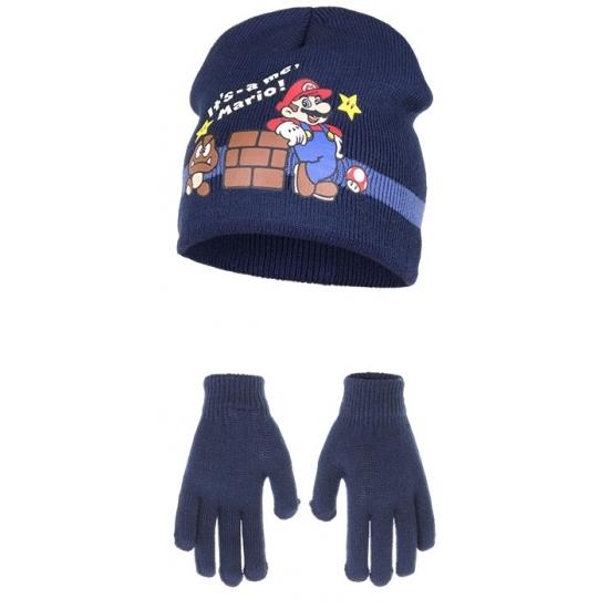Navy Its Mario winterset voor kinderen