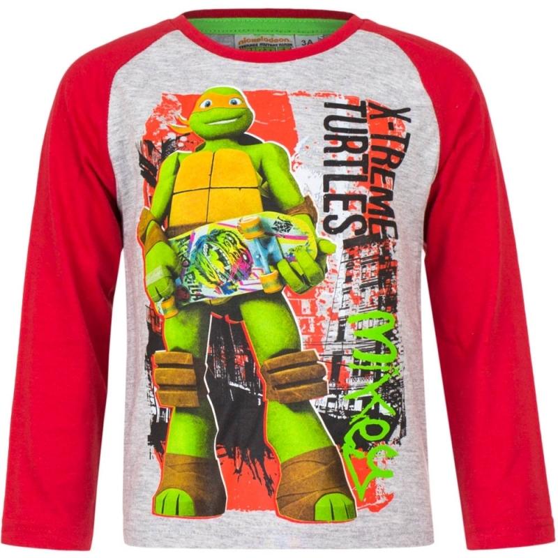 Ninja Turtles t shirt grijs/rood voor jongens