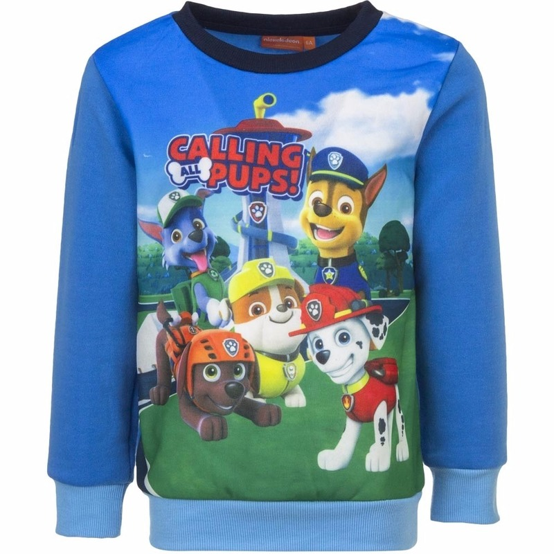 Paw Patrol jongens sweater blauw