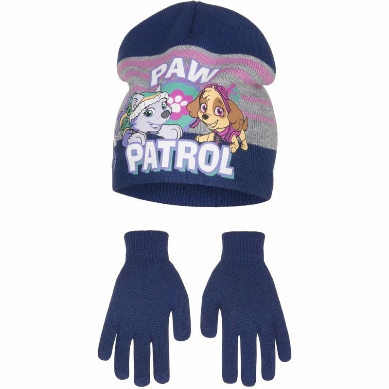 Paw Patrol muts en handschoenen blauw voor jongens