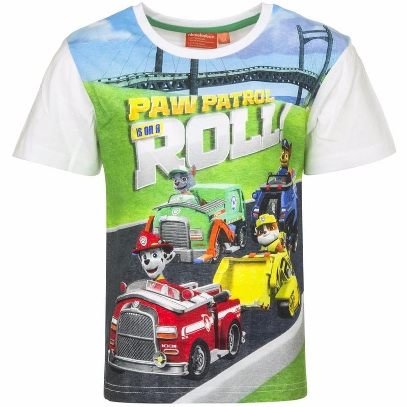 Paw Patrol t shirt wit voor jongens
