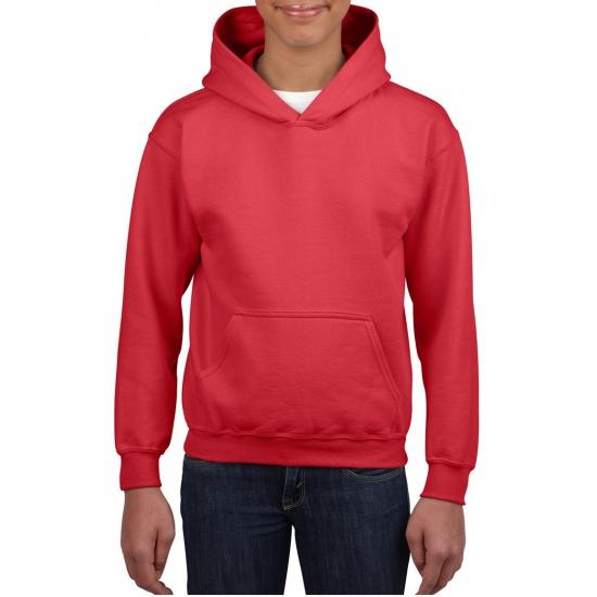 Rode capuchon sweater voor jongens
