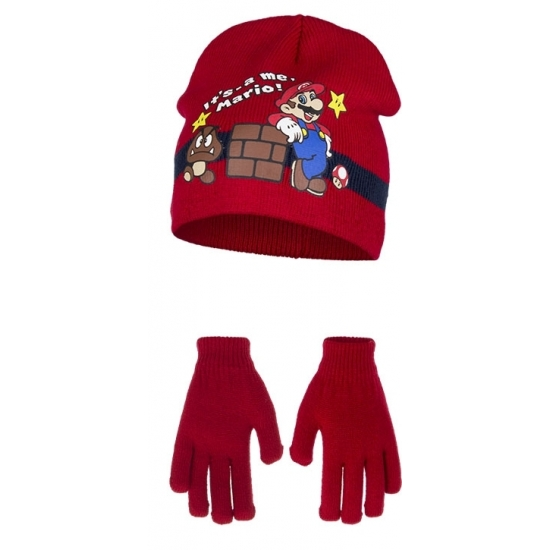 Rode Its Mario winterset voor kinderen