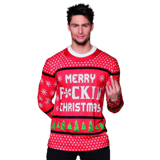 Shirt kerst Merry f ing christmas