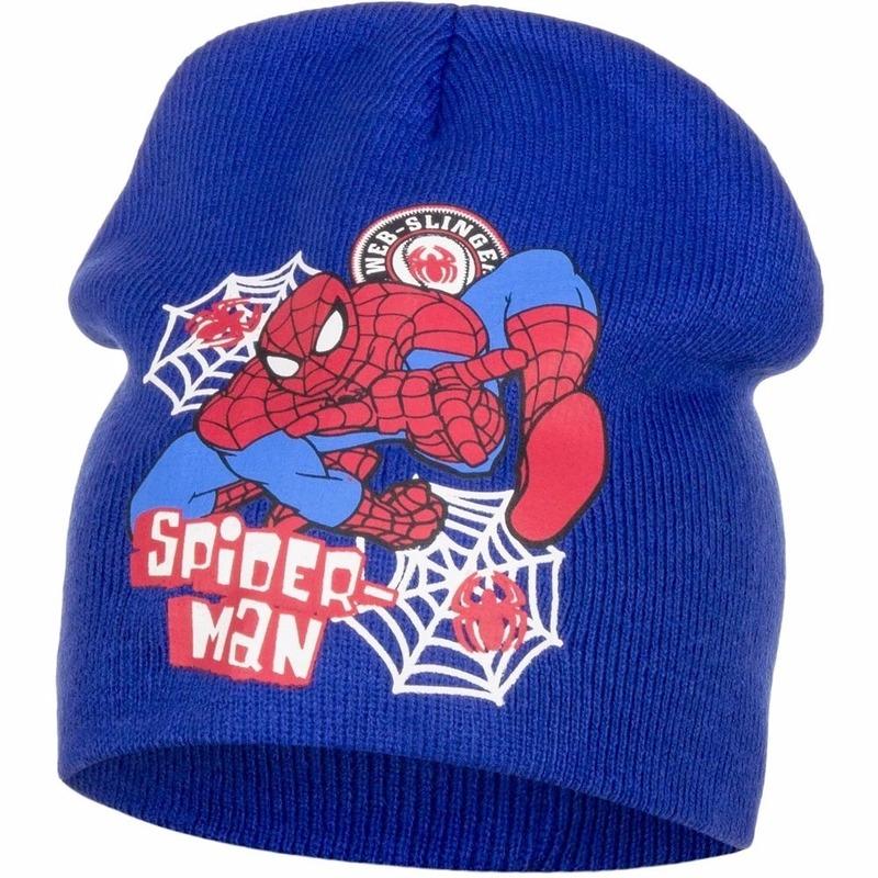 Spiderman muts blauw voor jongens