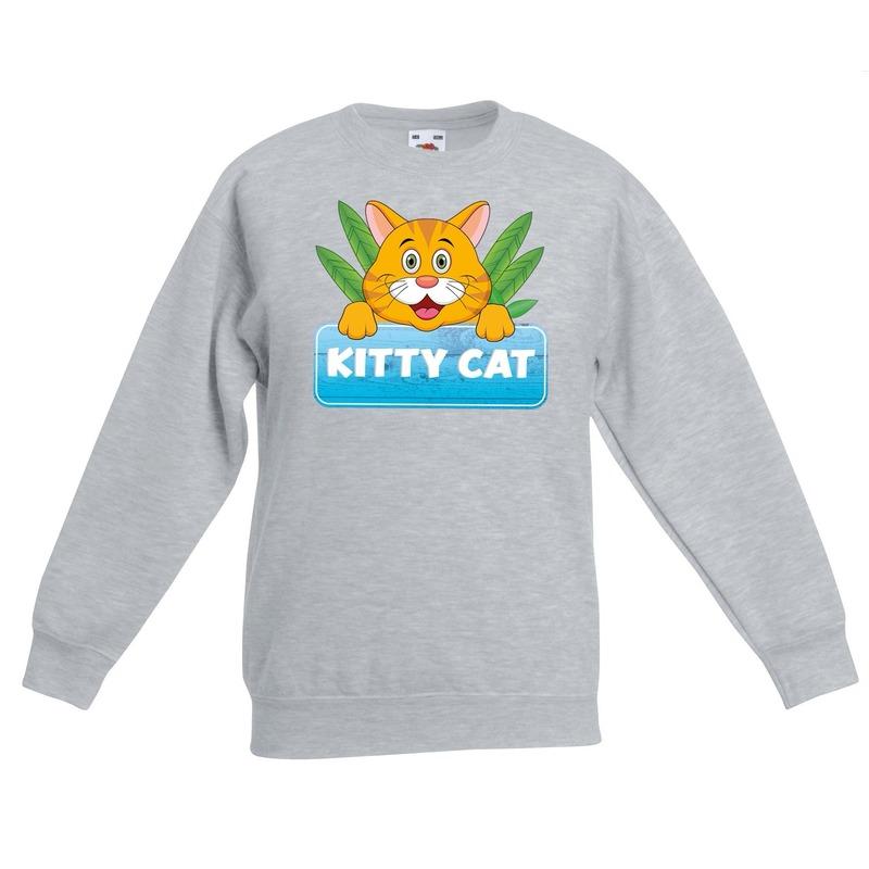 Sweater grijs voor kinderen met Tommy the Cat