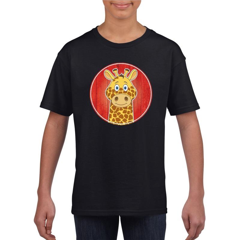 T shirt giraffe zwart kinderen