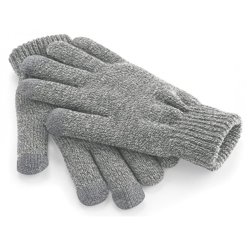 Touchscreen handschoenen lichtgrijs
