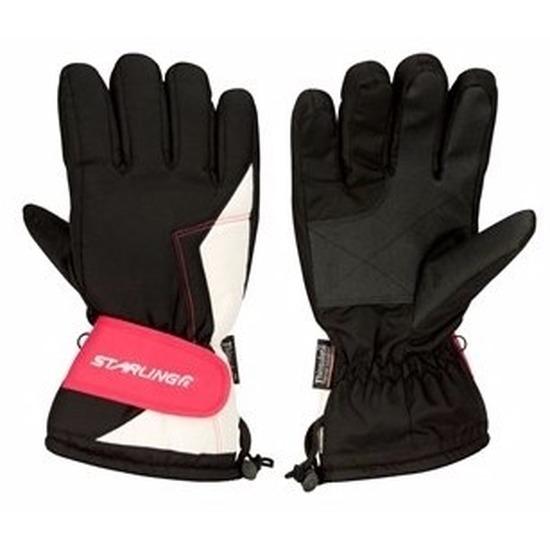 Winter handschoenen Starling zwart/roze voor dames
