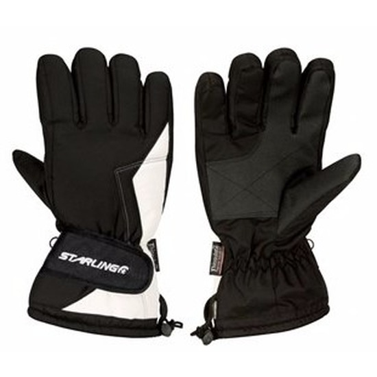 Winter handschoenen Starling zwart/wit voor volwassenen