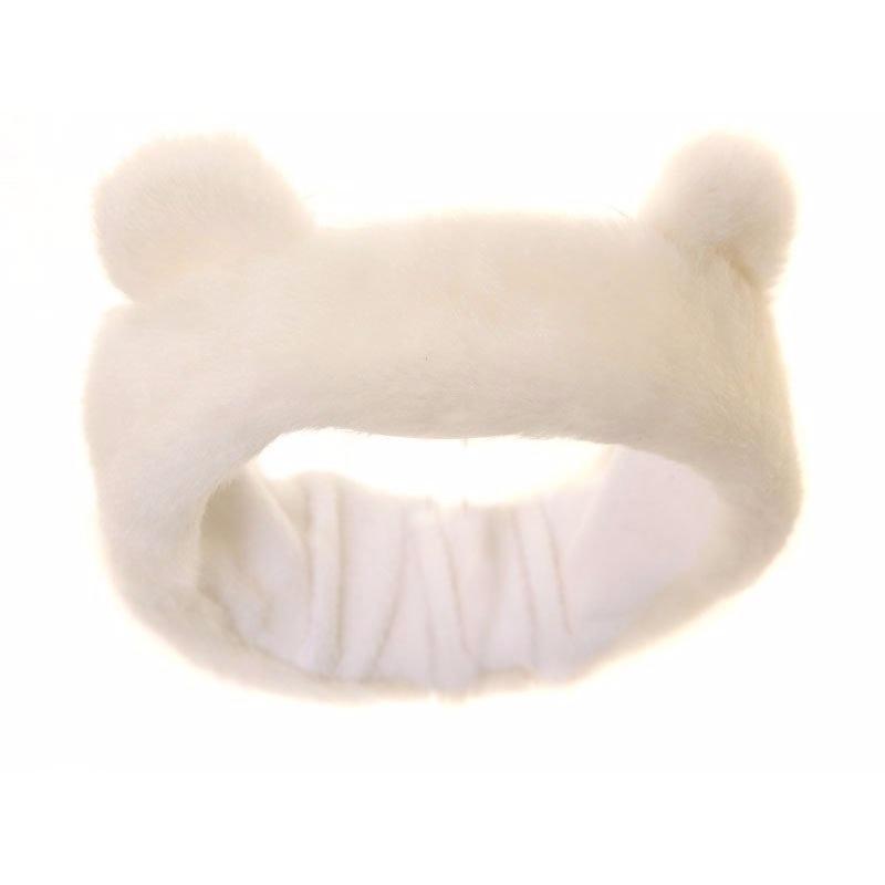 Witte hoofdband met oren voor meisjes