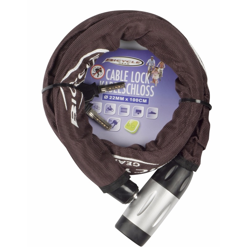 Zware kwaliteit kettingslot bruin 22 mm