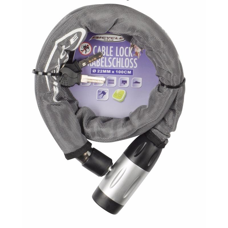 Zware kwaliteit kettingslot grijs 22 mm