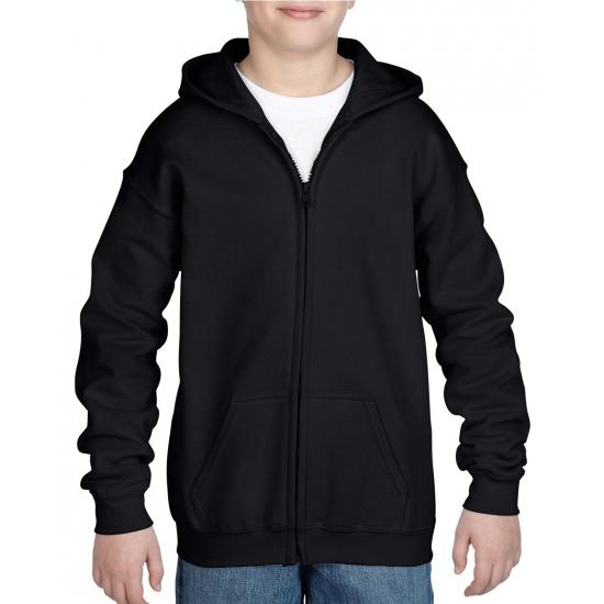 Zwart capuchon vest voor jongens