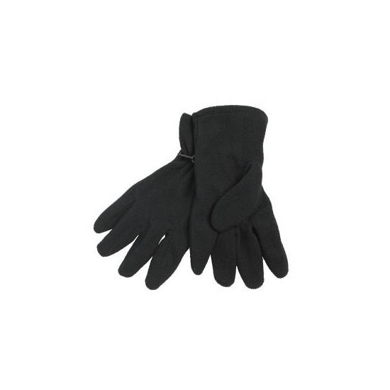 Zwarte fleece handschoenen voor volwassenen